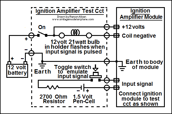 RoverSD1 V8 Ignition Amplifier Test Circuit