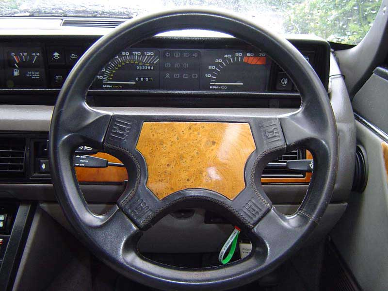 Rover SD1 Steering Wheel with Matching Burr Walnut Veneer