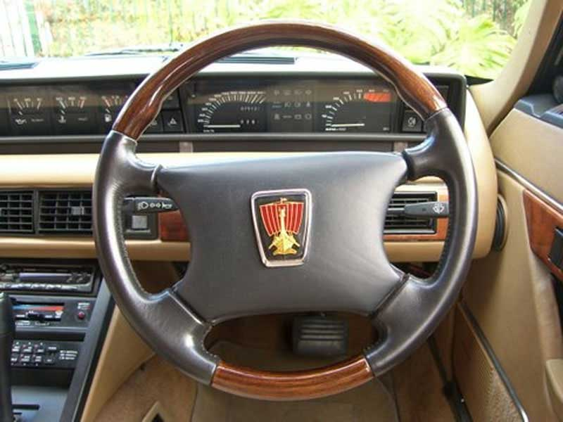 Rover SD1 Steering Wheel, Wood and Viking Boat Badge
