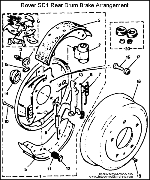 CLICK on the Image to ennlarge the Rear Brake Drum